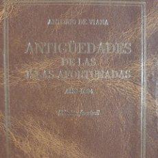 Libros: ANTIGÜEDADES DE LAS ISLAS AFORTUNADAS AÑO 1604. Lote 261691680