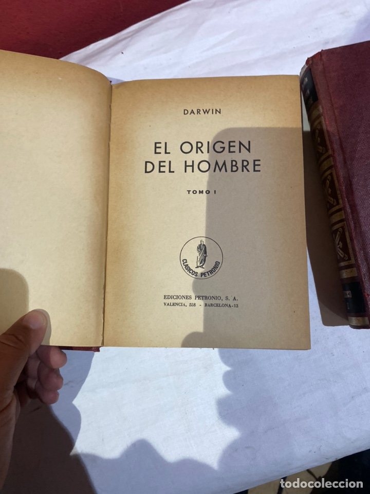Libros: El origen del hombre de Darwin 1973.coleccion completa 2 tomos - Foto 3 - 262010945