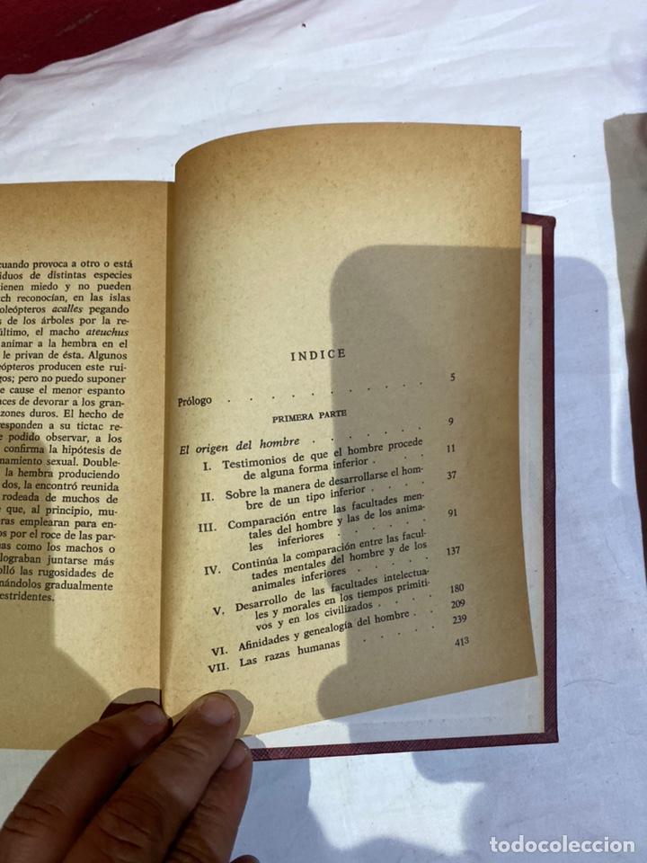 Libros: El origen del hombre de Darwin 1973.coleccion completa 2 tomos - Foto 9 - 262010945