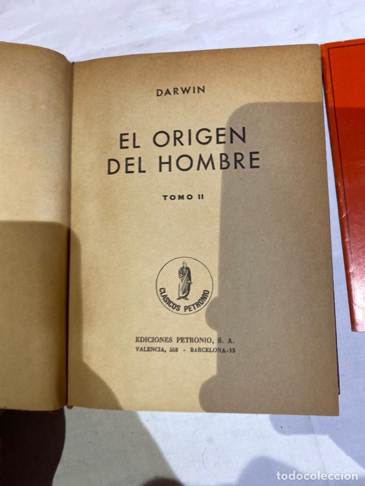 Libros: El origen del hombre de Darwin 1973.coleccion completa 2 tomos - Foto 11 - 262010945
