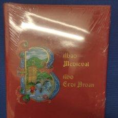 Libros: BILBAO MEDIEVAL - BILBO ERDI AROAN - JAVIER ENRIQUEZ Y ENRIQUETA SESMERO 35X25. Lote 262873355