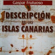 Libros: DESCRIPCIÓN DE LAS ISLAS CANARIAS. Lote 277171583