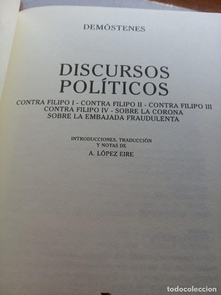 Libros: Demóstenes. Discursos políticos y privados (editorial Gredos) - Foto 2 - 277255998
