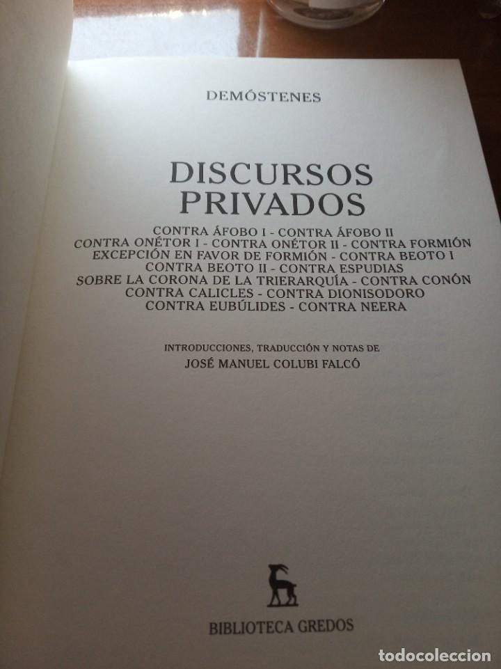 Libros: Demóstenes. Discursos políticos y privados (editorial Gredos) - Foto 3 - 277255998