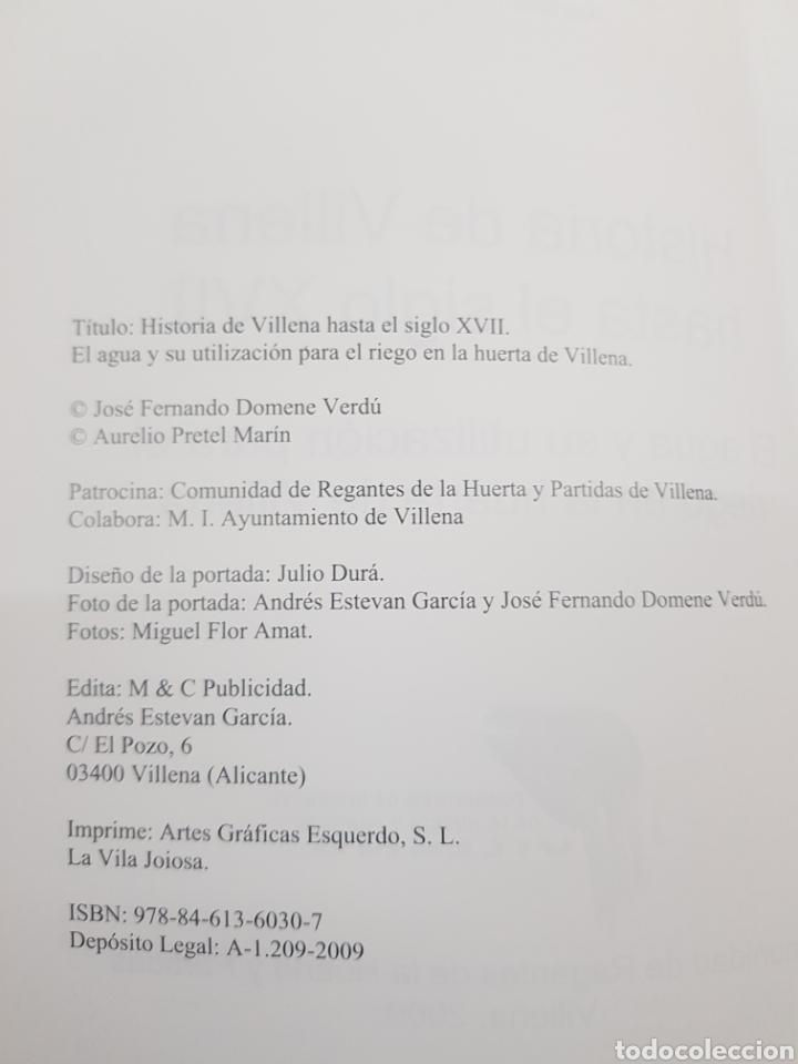 Libros: Historia de Villena hasta el siglo XVII ,2009 - Foto 2 - 277824533