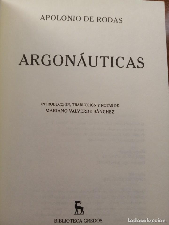 Libros: Apolonio de Rodas. Argonauticas. Gredos - Foto 2 - 278271108