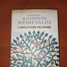 Libros: GRANDES MANUSCRITOS MEDIEVALES. CHRISTOPHER DE HAMEL. ED.ÁTICO DE LOS LIBROS. 2020.. Lote 293329383