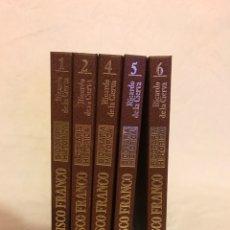 Libros: 5 LIBROS BIOGRAFÍA HISTÓRICA FRANCISCO FRANCO DE 300 PÁGINAS CADA LIBRO. Lote 77457310