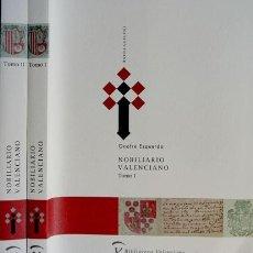 Libros: ESQUERDO, ONOFRE. NOBILIARIO VALENCIANO. 2002.. Lote 102924935
