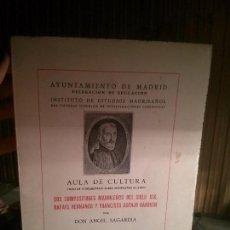 Libros: DOS COMPOSITORES MADRILEÑOS DEL SIGLO XIX POR DON ANGEL SAGARDIA, ARTES GRÁFICAS MUNICIPALES.. Lote 109571547