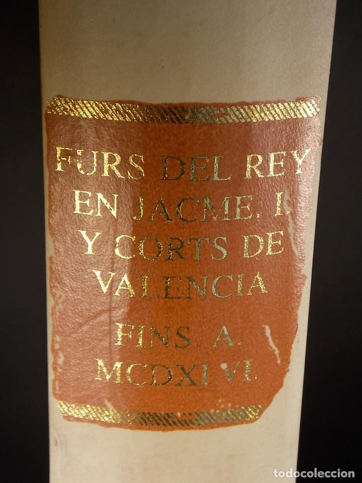 ANTIGUO LIBRO LE FURS E ORDINACIONS DEL REGNE DE VALENCIA (FACSIMIL) VALENCIA (Libros Nuevos - Historia - Historia de España)