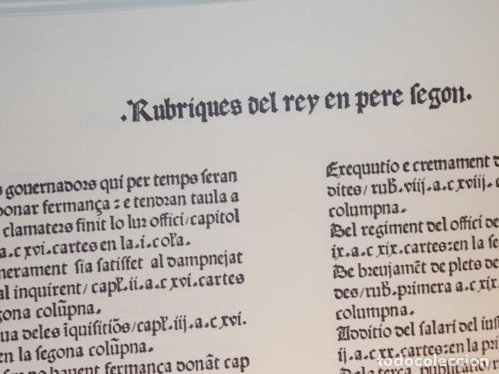Libros: Antiguo libro le furs e ordinacions del regne de valencia (facsimil) Valencia - Foto 5 - 124034184