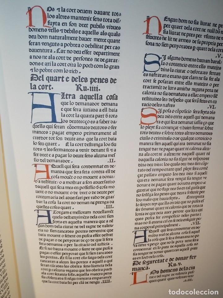 Libros: Antiguo libro le furs e ordinacions del regne de valencia (facsimil) Valencia - Foto 6 - 124034184