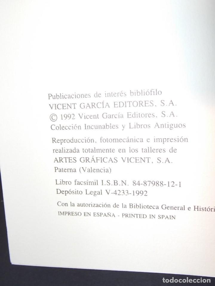 Libros: Antiguo libro le furs e ordinacions del regne de valencia (facsimil) Valencia - Foto 12 - 124034184