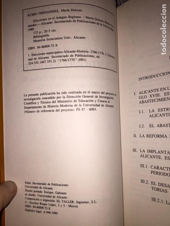 Libros: Elecciones en el Antiguo régimen. María Dolores Rubio Fernández. Universidad de Alicante. 1989 - Foto 4 - 90209692