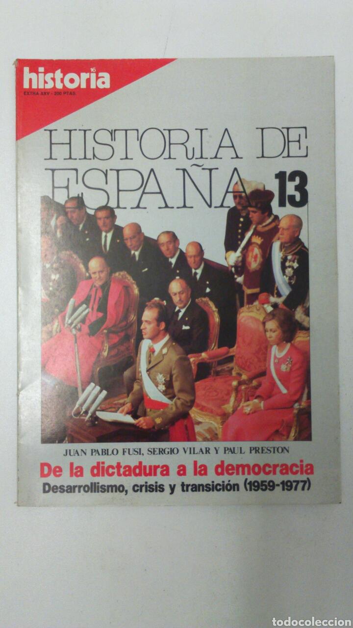 LIBRO HISTORIA DE ESPAÑA 13 EXTRA XXV (Libros Nuevos - Historia - Historia de España)