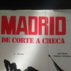 Libros: MADRID DE CORTE A CHECA. AGUSTÍN DE FOXÁ. 330 PÁGINAS. RÚSTICA. AÑO 1973. 500GR.. Lote 98958971