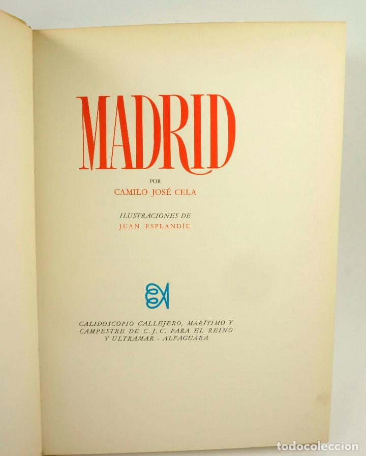 Libros: MADRID, CAMILO JOSE CELA, 1966, ED. ALFAGUARA, FIRMADO. 24x33,5cm - Foto 2 - 99591815