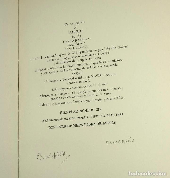 Libros: MADRID, CAMILO JOSE CELA, 1966, ED. ALFAGUARA, FIRMADO. 24x33,5cm - Foto 4 - 99591815