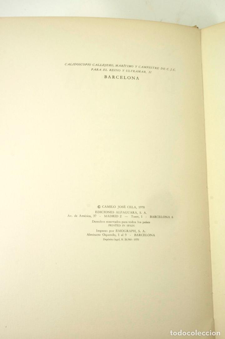 Libros: BARCELONA, CAMILO JOSE CELA, 1970, ED. ALFAGUARA. 24x33,5cm - Foto 3 - 99594039