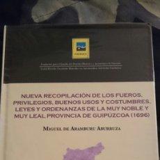 Libros: RECOPILACIÓN DE LOS FUEROS, PRIVILEGIOS, BUENOS USOS Y COSTUMBRES... PROVINCIA DE GUIPUZCOA 1696. Lote 109084266