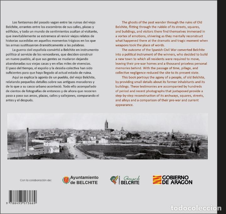 Libros: EL VIEJO BELCHITE. La agonía de un pueblo. BILINGUE español-inglés´. - Foto 2 - 171730923