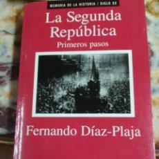 Libros: LA SEGUNDA REPÚBLICA. Lote 133751630