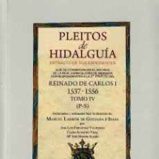 Libros: PLEITOS DE HIDALGUÍA. CHANCILLERÍA DE GRANADA, CARLOS I (2ª PARTE) TOMO IV (P-S) ED. HIDALGUÍA 2018. Lote 144397038