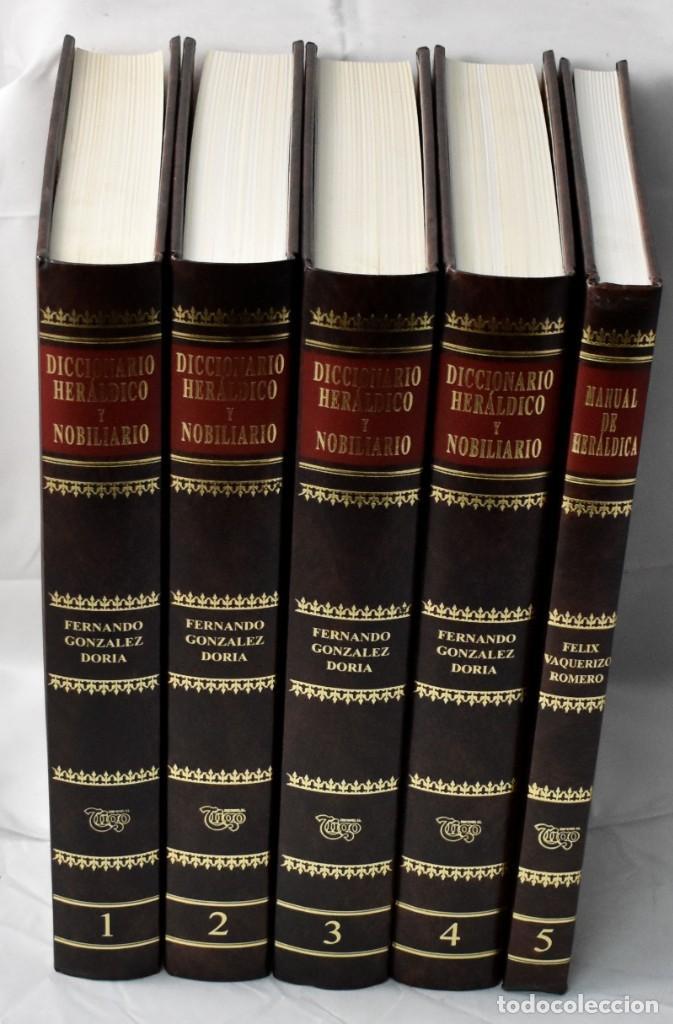 DICCIONARTIO HERÁLDICO Y NOBILIARIO EN 5 TOMOS. GONZÁLEZ DORIA, FERNADO (Libros Nuevos - Historia - Historia de España)
