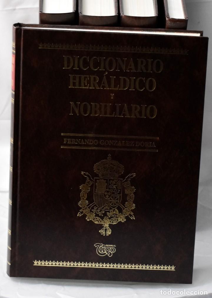 Libros: Diccionartio heráldico y nobiliario en 5 tomos. González Doria, Fernado - Foto 2 - 145049462