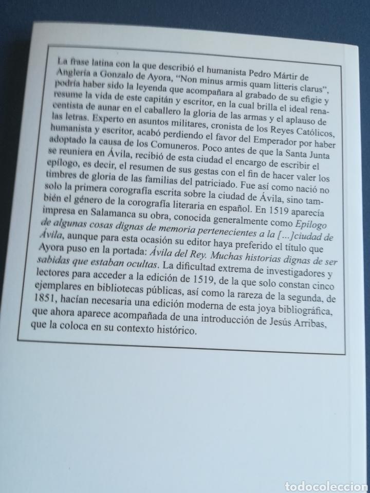 Libros: Ávila del Rey muchas historias dignas de ser sabidas que estaban Ocultas, Gonzalo de Ayora, 2011 - Foto 2 - 146552049