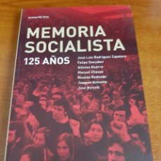 Libros: LIBRO MEMORIA SOCIALISTA 1°EDICIÓN (ARTÍCULO NUEVO). Lote 148013164