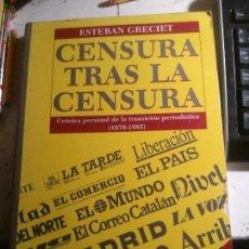 Libros: CENSURA TRAS LA CENSURA, ESTEBAN GRECIET, LA FRAGUA EDITORIAL.. Lote 148063738