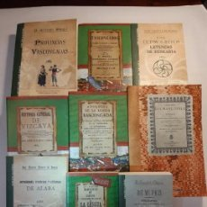 Libros: 9 LIBROS FACSÍMILES RELATIVOS AL PAÍS VASCO. EUSKADI EUSKAL HERRÍA LENGUA VASCA ÁLAVA VIZCAYA. Lote 220890290