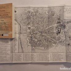Libros: PLANO DE LA VILLA Y CORTE DE MADRID EN SESENTA Y QUATRO LÁMINAS. FACSÍMIL DE ED. DE 1800. HISTORIA. Lote 261907360