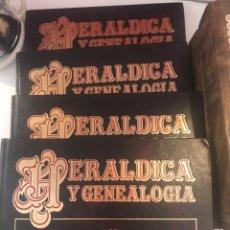 Libros: HERÁLDICA Y GENEALOGÍA CUATRO TOMOS COMPLETA. Lote 163351968