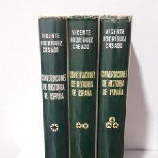 Libros: COVERSACIONES DE HISTORIA DE ESPAÑA 3T. MUY ISLUSTRADO 1965. Lote 171461642