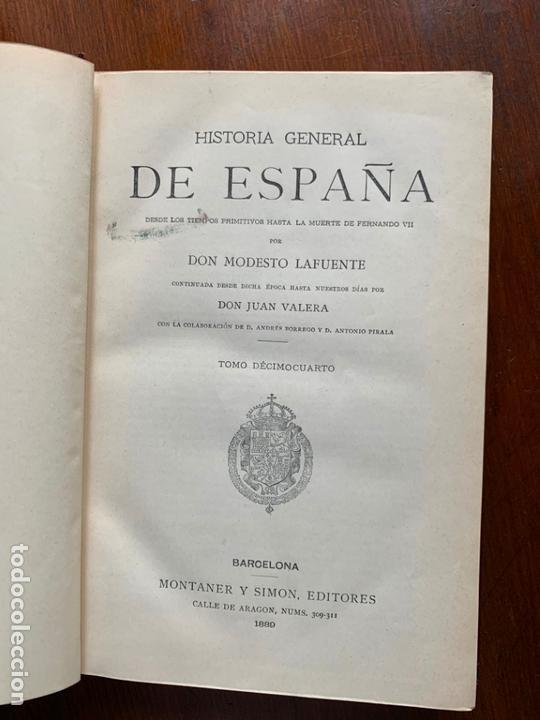 Libros: 25 tomos de la Historia General de España hasta la muerte de Fernando VII, editada en 1880 - Foto 3 - 171531832