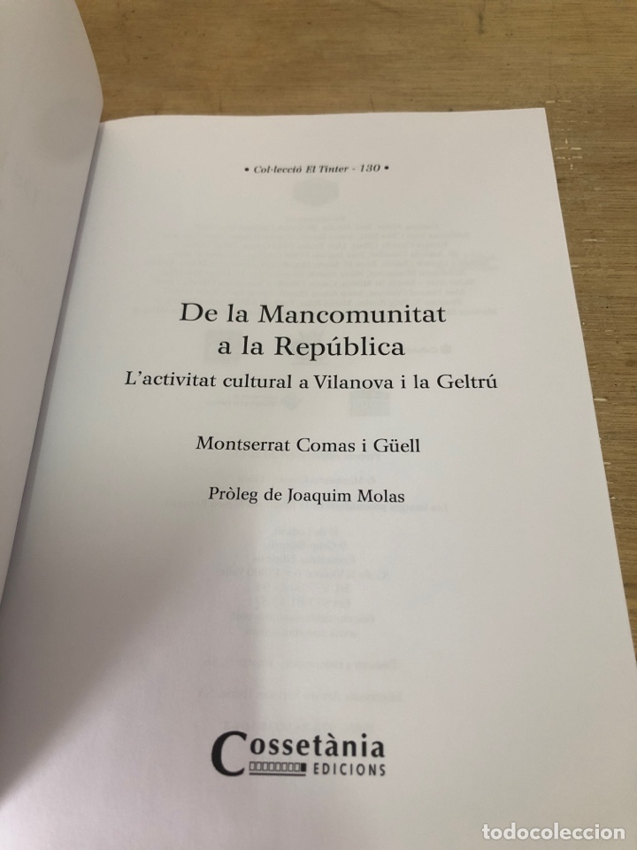 Libros: De la mancomunitat a la republica - Foto 3 - 177399137