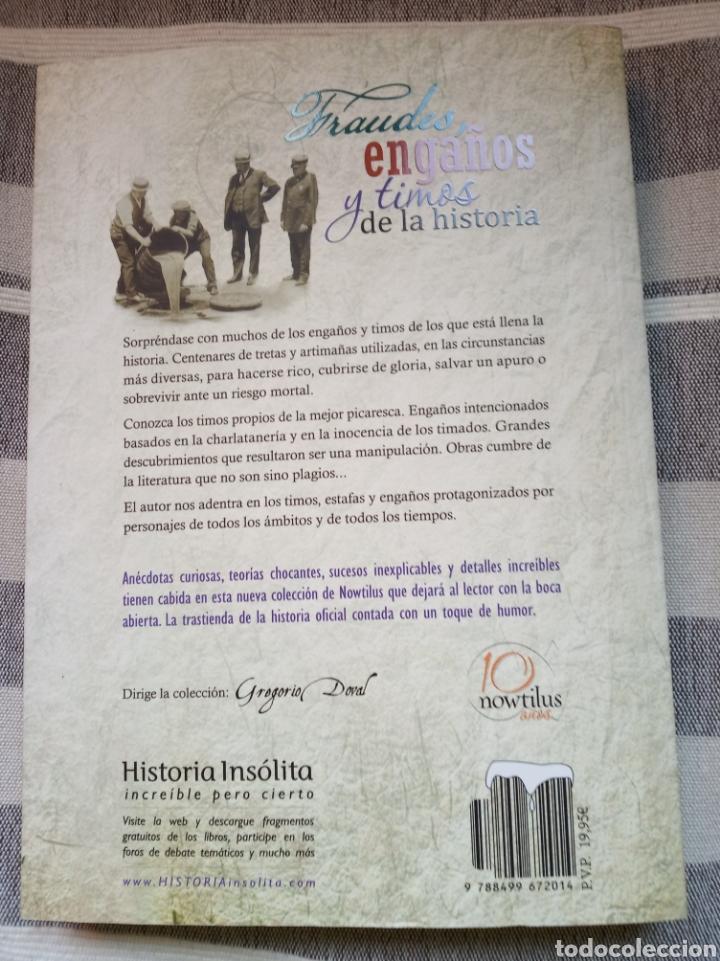 Libros: Libro fraudes, engaños y timos de la historia. Gregorio doval. Literatura.misterio.novela negra.esta - Foto 3 - 179012141