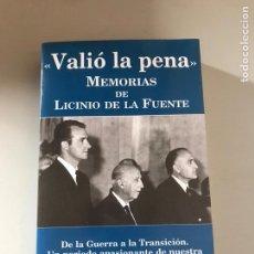 Libros: VALIÓ LA PENA. Lote 180508375