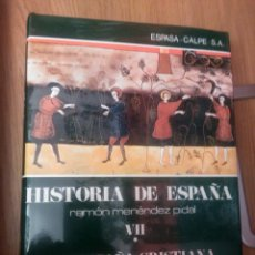 Libros: HISTORIA DE ESPAÑA - MENENDEZ PIDAL VII-1 LA ESPAÑA CRISTIANA DE LOS S. VIII AL XI. SIN DESPRECINTAR. Lote 184300337