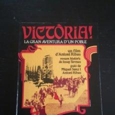 Libros: VICTORIA LA GRAN AVENTURA D'UN POBLE D'ANTONIO RIBAS EDICIONS HYMSA. Lote 186077577