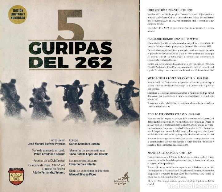 Libros: División Azul. 5 GURIPAS DEL 262. Varios autores. Carlos Caballero. José Manuel Estévez Payeras. - Foto 2 - 194606412