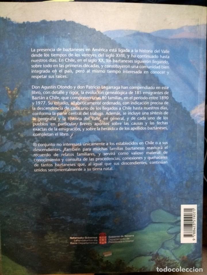 Libros: Emigración a Chile del Valle de Baztán (Navarra) en el siglo XX n/ Agustín Otondo - Patricio Legar - Foto 2 - 194646625