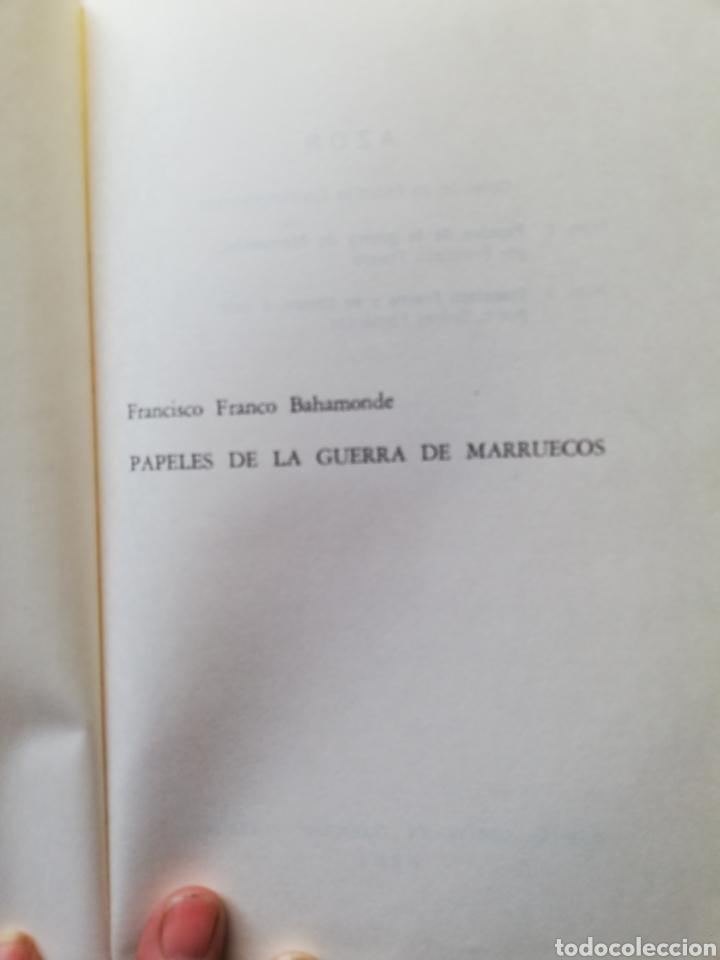 Libros: Francisco Franco Bahamonte, papeles de la guerra de Marruecos, Diario de una Bandera, La hora de Xah - Foto 3 - 194944270
