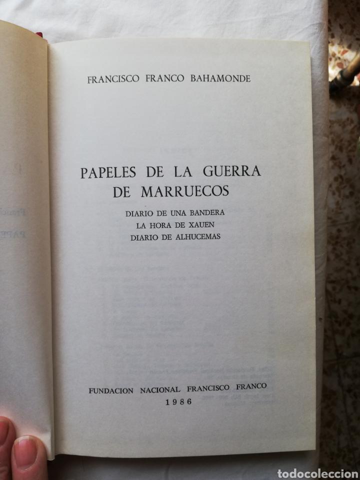 Libros: Francisco Franco Bahamonte, papeles de la guerra de Marruecos, Diario de una Bandera, La hora de Xah - Foto 5 - 194944270