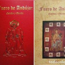 Libros: QUESADA, PABLO. EL FUERO DE ANDUJAR. EDICIÓN FACSÍMIL DEL MANUSCRITO DE LA FUND. L GALDIANO. 2006.. Lote 199401005