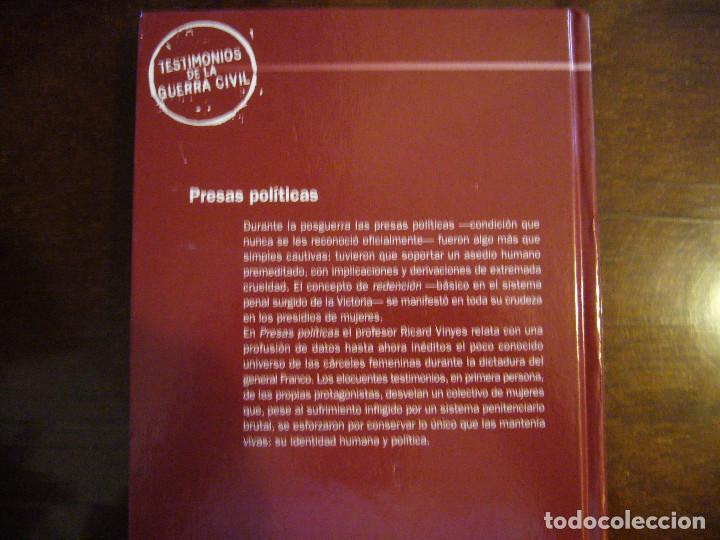 Libros: PRESAS POLÍTICAS - TESTIMONIOS DE LA GUERRA CIVIL ESPAÑOLA - Foto 10 - 206166107
