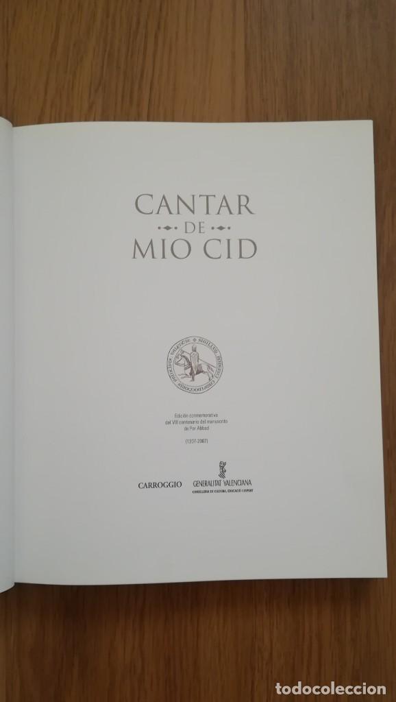 Libros: CANTAR DEL MIO CID (EDICION CONMEMORATIVA DEL VIII CENTENARIO DEL MANUSCRITO DE PER ABBAD - Foto 2 - 210367825